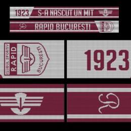 Eșarfă tricotată CS Rapid