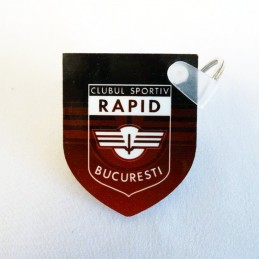Shield plastic keychain